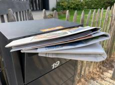 krant in brievenbus